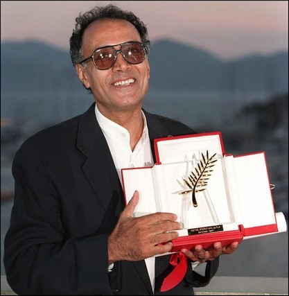 Abbas Kiarostami winning the Palm d'Or (1997) for Taste of Cherry